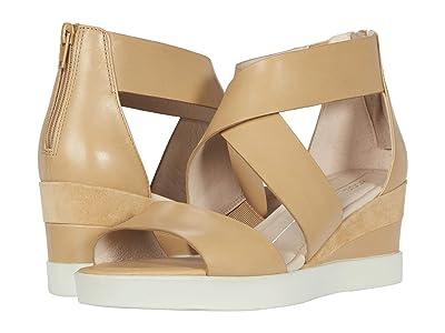 ECCO Elevate Wedge Sandal (Latte/Latte Calf Leather/Cow Suede) Women