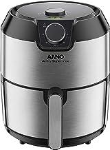 Fritadeira Elétrica sem óleo AirFry Super Inox, Arno, IFRY, Preta e Inox