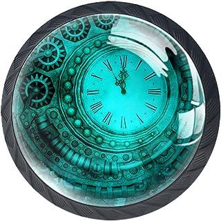 Tiroir Poignées Tirez pour la maison de cuisine commode garde-robe,Horloge vintage