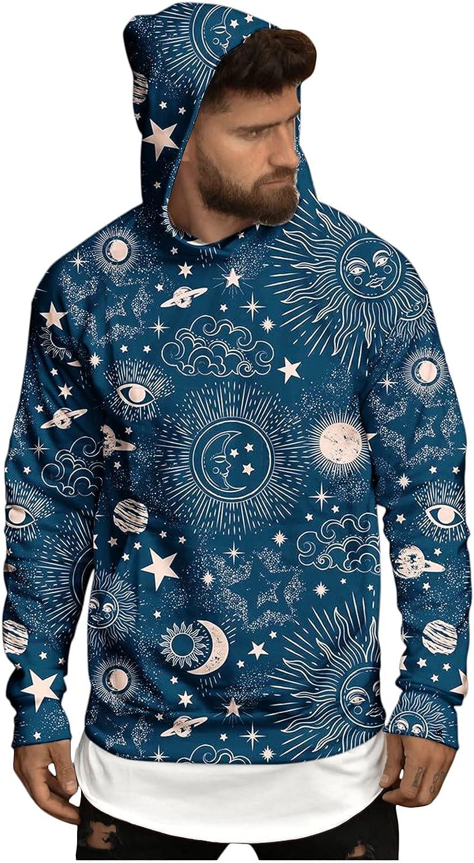 Bravetoshop Men's 3D Pattern Printed Hoodies Novelty Colorful Graphic Pullover Sweatshirt Street Fashion Outerwear