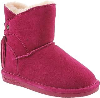 BEARPAW Kid's Mia Boots, Suede, Wool, Sheepskin
