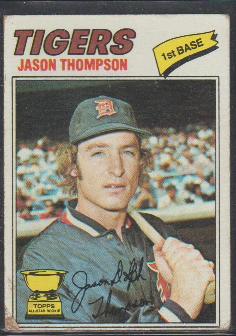Amazon.com: 1977 Topps Jason Thompson Tigers Baseball Card #291:  Collectibles & Fine Art