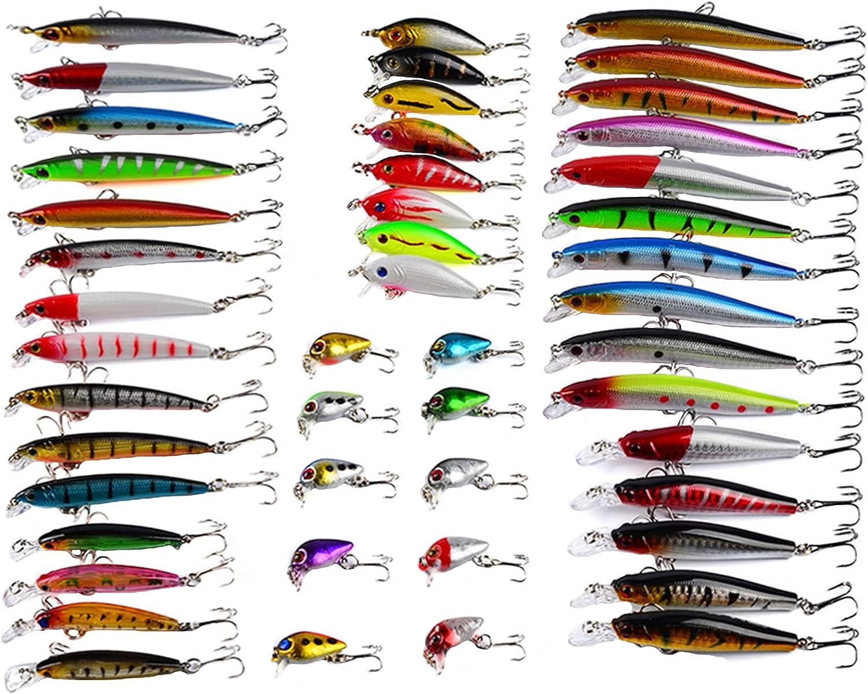 RoseFlower Señuelos de Pesca Spinning Mar, Minnow Crankbait Biónico Artificial Cebo Blando Jigging Atun para Black Bass Pesca Lucio Perca Trucha