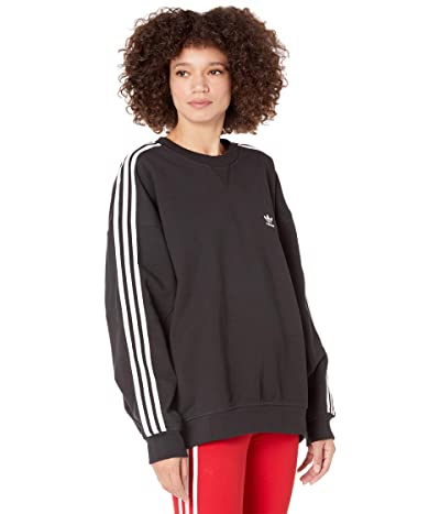 adidas Originals 3-Stripes Oversized Sweatshirt (Black) Women