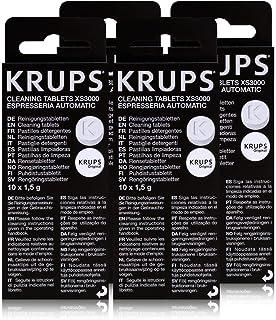 KRUPS Lot de 4 boîtes de pastilles détergentes XS3000