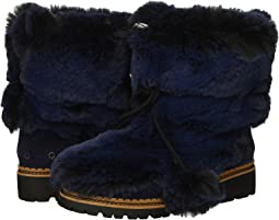 Blatic Navy Opulent Fur/Velutto Suede Leather