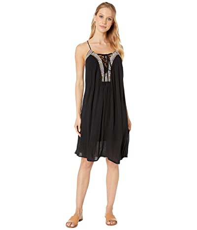 BCBGeneration Embroidered Tank Dress TFW6214590 (Black) Women