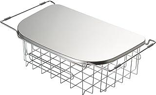 オークス leye(レイエ) 調理スペースが広がるトレー&水切り LS1538 約 幅25.5×奥行45.2×高さ13.3cm(すべり止めゴム部含む)