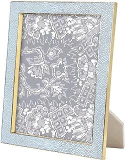 AERIN Shagreen Brass Frame - Blue - 8x10