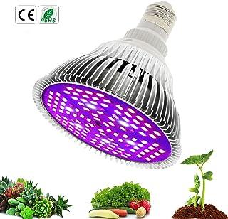 50W 1pc 30W 50W 80W LED Coltiva la lampada Risparmio energetico Spettro completo E27 LED Pianta coltiva le lampade Orticoltura Luce crescente per il giardino