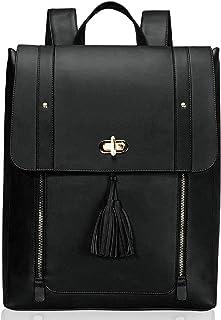 Estarer Upgraded Version Women PU Leather Backpack Laptop Vintage College School Rucksack Bag
