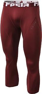 TSLA Men's Emboss Pants Thermal Wintergear Compression...