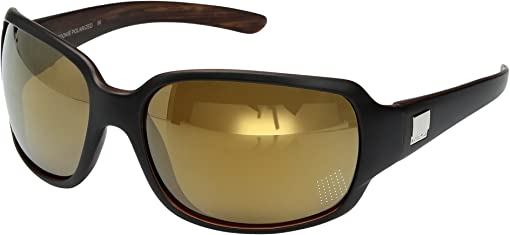 Matte Black Backpaint/Polarized Sienna Mirror Polycarbonate Lens