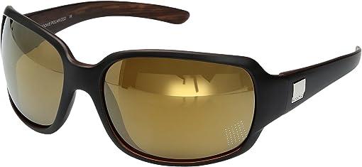 Matte Black Backpaint/Polarized Sienna Mirror Polycarbonate Lens