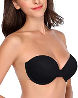 HANSCA Push up Strapless Bra Self Adhesive Sticky Backless Reusable Thick Padded Bra