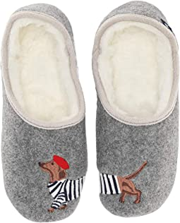 Slip-On Felt Mule Slippers