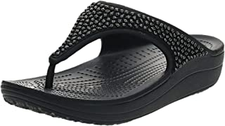 Crocs Women's Sloane Embellished Flip Flops, Black (Black/Black), 4 UK 36/37 EU
