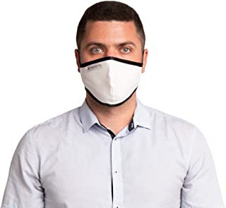 SonoMask Reusable Dual Layer Face Masks By Sonovia (3, Men Ear Loop)