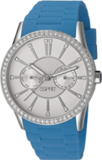 Esprit Women's Analogue Quartz Watch With Plastic Strap – Es106122008, Blue Band