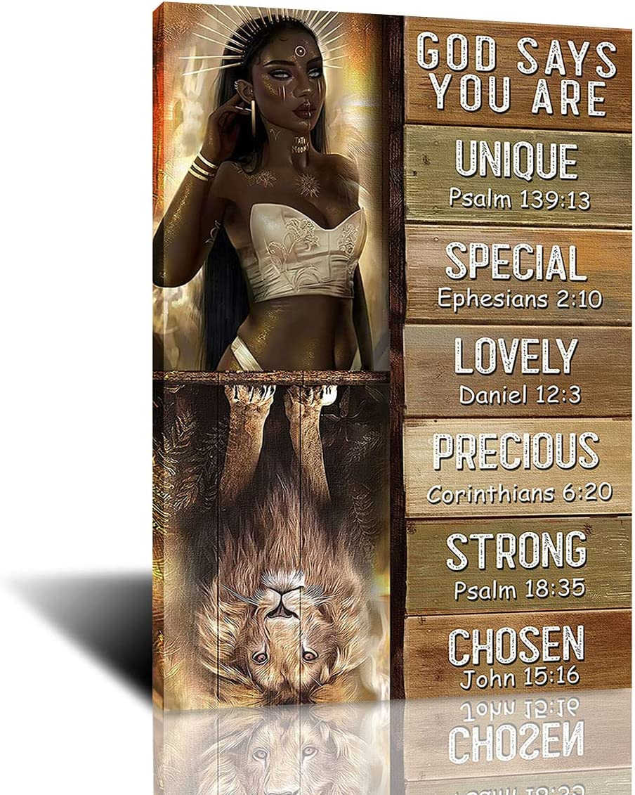 African Art 55% OFF God Says Max 54% OFF You Are and Canvas Oil on Painting Posters