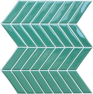 "Joqixon Peel and Stick Tile Backsplash for Kitchen, 3D W Decorative Tile Sticker Design, Vinyl Subway Wall Tiles Self Adhesive, 9.8""x10"" 4 Sheets"