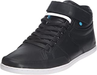Boxfresh Swich Black White Mens Leather Half Cab Mid Shoes Boots