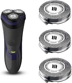 سرهای جایگزین SH30 برای ریش تراش های فیلیپس Norelco Series 3000 ، 2000 ، 1000 و S738 Click and Style ، ComfortCut Head shaving SH30 / 52 ساخت هلند