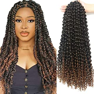 Passion Twist Hair 18 Inch 6 Packs/Lot Water Wave Crochet for Passion Twists Long..