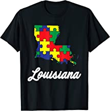 Autism Awareness Day Shirt   Louisiana Puzzle Pieces Gift