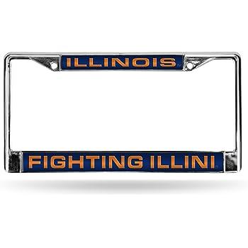 Rico Industries NCAA Unisex-Adult NCAA Laser Cut Inlaid Standard Chrome License Plate Frame