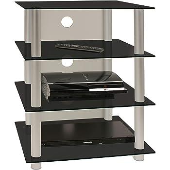 VCM 14100 Bilus-Mueble para Equipo de Alta fidelidad, Cristal Claro: Amazon.es: Hogar