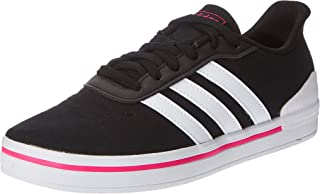 Adidas Heawin Canvas Contrast Logo Tongue Three Side-Stripe Skateboarding Athletic Shoes for Women