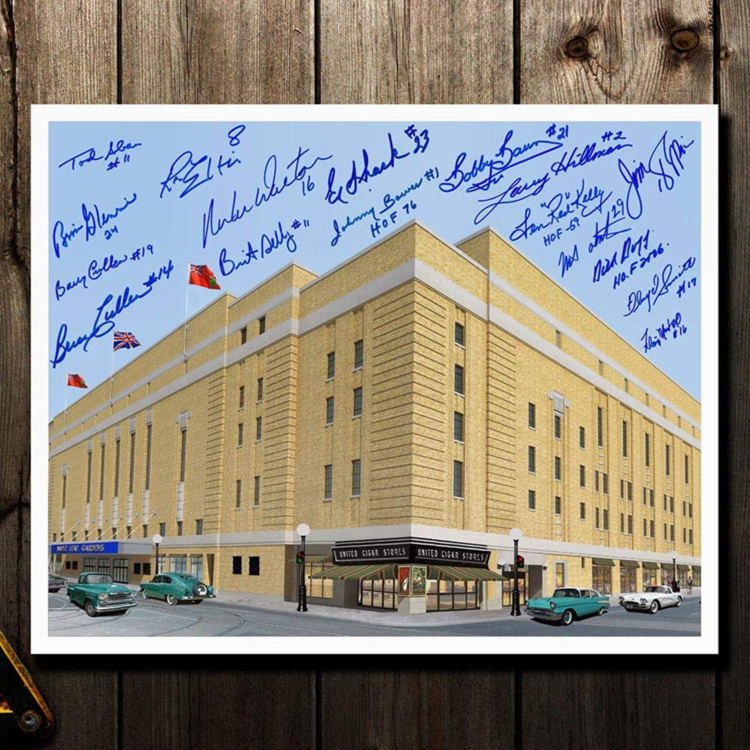 Maple Leaf Gardens Tgoldnto Maple Leafs Legends Autographed 16x20 Signed by 17  Autographed NHL Photos