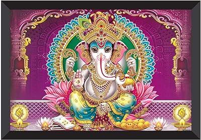 SAF Ganesha Religious UV Textured Synthetic Frame Painting SAFK101