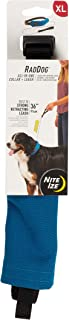 Nite Ize Raddog All-in-One Collar + Leash Combo Dog Collar with Built-in Retractable Leash
