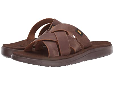 Teva Voya Slide Leather (Pecan) Men
