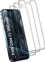 [3 بسته] محافظ صفحه شیشه ای برای iPhone 13 Pro Max 5G ، [بدون حباب] [ضد خط و خش] [سختی 9H] [HD Clear] فیلم شیشه ای درجه حرارت درجه یک برای iPhone 13 Pro Max 5G 6.7 اینچ
