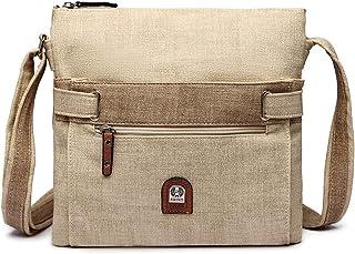 21-K Crossbody Handbag Multi-Pocket Shoulder Purse Soft Faux Leather Sling Messenger Bag