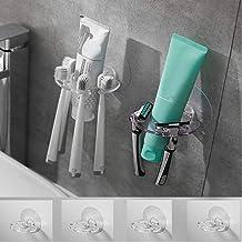 4 soportes para cepillos de dientes de pared para baño, soporte de cepillo de dientes en la pared, soporte de cepillo de d...