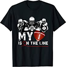 Football Lover My Heart Is On The Line Offensive Lineman T-Shirt