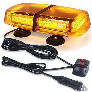 LED Strobe Light, 12V-24V Amber 54 LED Warning Safety Flashing Beacon Lights with 4 Magnet and 16 ft Straight Cord for Vehicle Forklift Truck Tractor Golf Carts UTV Car Bus
