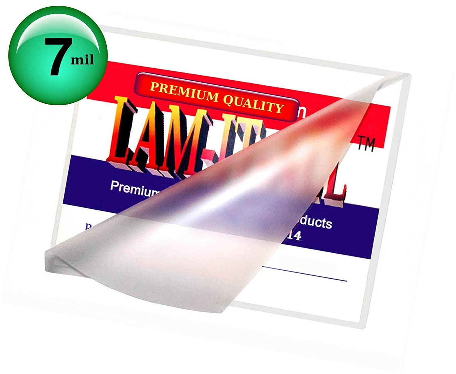 7 Mil Hot Letter Laminating Pouches 9 X 11-1/2 [Pack of 100] by LAM-IT-ALL