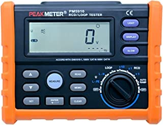 PM5910 Digital Resistance Meter RCD Loop Resistance Tester Multimeter Trip-out Current/Time Test With USB Interface
