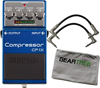 Boss CP-1X Compressor Special Edition Guitar Pedal Bundle w/ 2 Patch Cables and