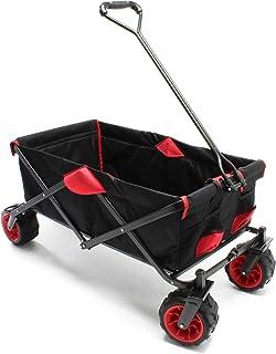 WilTec Carrito Plegable Vagoneta jardín Carrito Playa Carro Manual Trolley Ayuda Transporte Manual Outdoor