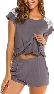Avidlove Women's Pajama Set Short Sleeve Sleepwear Pjs Sets Ladies 2-Piece Nightwear(S-XXL)