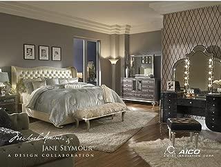 Hollywood Swank Standard King Pearl Bedroom Set By Aico Amini
