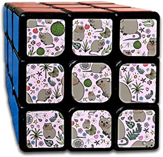 Tceeldv Quokka Party Magic Cube 3x3x3 Speed Cube High Speed Puzzle Personalized Design Toy