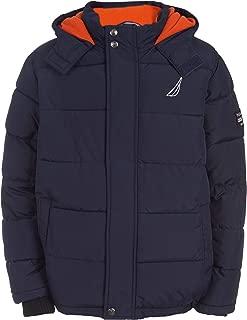 Nautica Boys' Fleece Lined Hooded Bubble Jacket