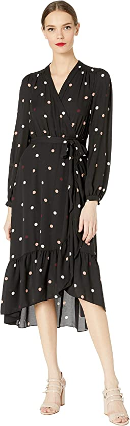 Glitzy Ritzy Bakery Dot Wrap Dress